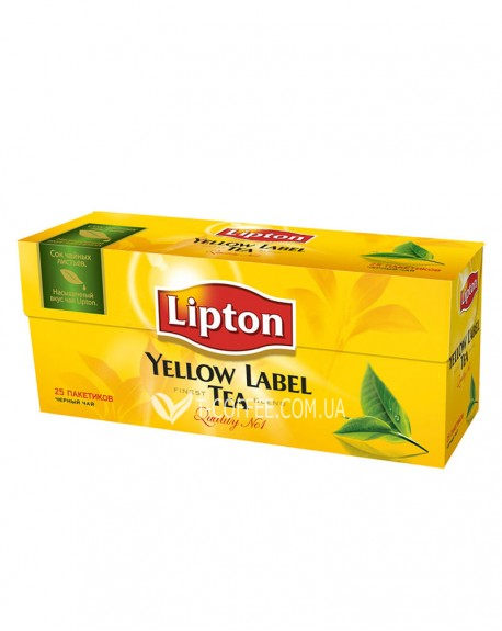 Чай Lipton Yellow Label черный 25 x 2 г