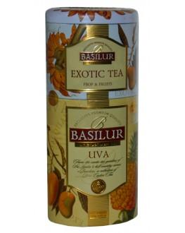 Чай BASILUR Exotic Tea Uva Экзотический Ува - Цветы и Фрукты Цейлона 125 г ж/б (4792252201194)