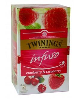 Чай TWININGS Infuso Cranberry Raspberry Журавлина Малина 20 х 2 г (070177177614)