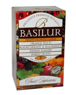 Чай BASILUR Fruit Infusions Assorted - Фруктові Коктейлі Асорті 25 х 1,8 г (4792252936317)