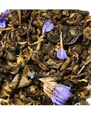 Зеленая Улитка Ягодная зеленый ароматизированный чай Чайна Країна 70 г ж/б
