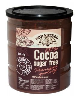 Какао FORASTERO 100% Cocoa без цукру 600 г п/б