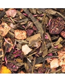 Малиновая Тарта зеленый ароматизированный чай Світ чаю
