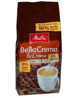 Кофе MELITTA Bella Crema La Crema зерновой 1 кг + 100 г В ПОДАРОК (4002720008126)