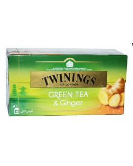 Чай TWININGS Green Tea Ginger Зелений Імбир 25 х 1.6 г (070177173821)