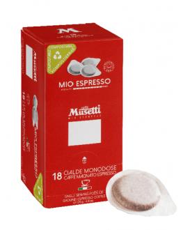 Кофе MUSETTI Mio Espresso в монодозах (чалдах, таблетках) 18 х 7 г