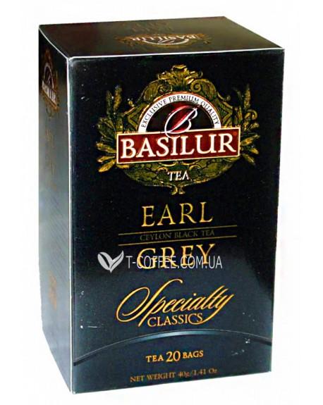 Чай BASILUR Earl Grey Эрл Грей - Избранная Классика 20 х 2 г (4792252001114)