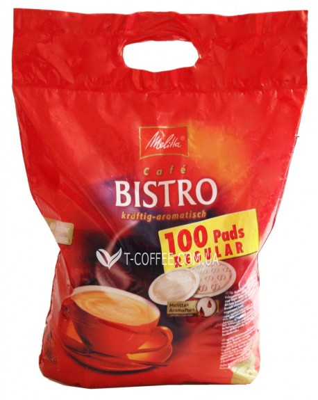 Кофе Melitta Bistro Kraftig-Aromatisch в монодозах (чалдах, таблетках) 100 х 7 г (4002720004104)