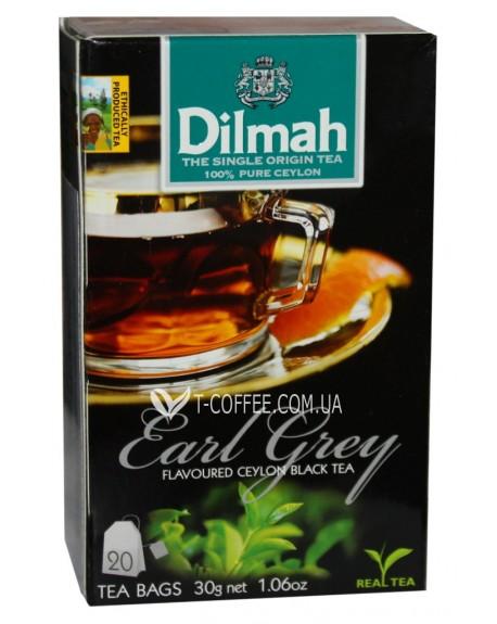Чай Dilmah Black Tea Earl Grey Эрл Грей 20 x 1,5 г (9312631142105)