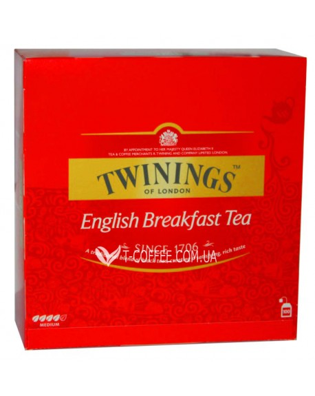 Чай TWININGS English Breakfast Английский Завтрак 100 х 2 г (070177090340)