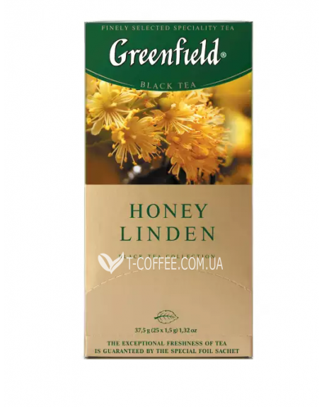 Чай Greenfield Honey Linden Мед Липа 25 х 1,5 г (4823096802367)