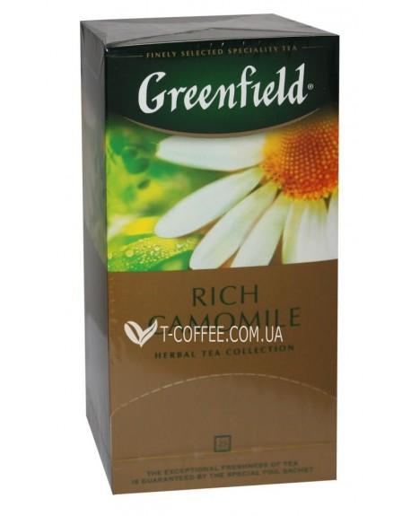 Чай Greenfield Rich Camomile Богатая Ромашка 25 х 1,5 г (4820022865540)