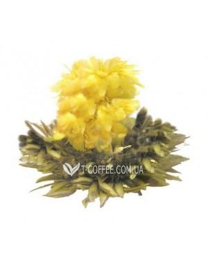 Серебряная Хризантема белый вязаный чай Османтус фото