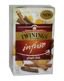 Чай TWININGS Infuso Ginger Chai Імбир 20 х 2 г (070177226589)