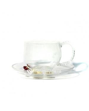 Чашка с блюдцем Водолей стеклянная 150 мл