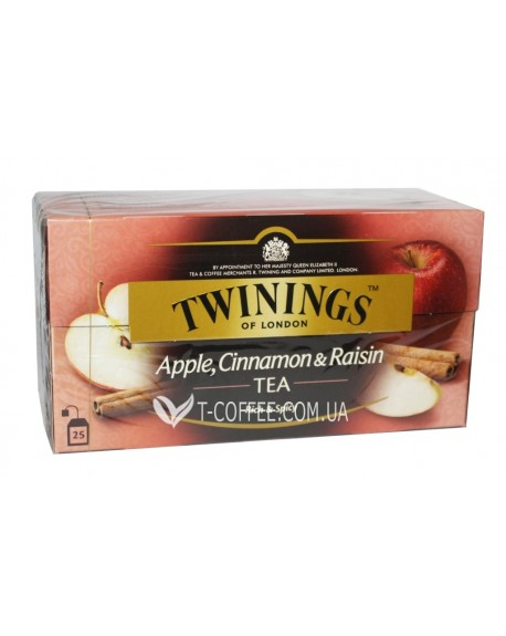 Чай TWININGS Apple Cinnamon Raisin Tea Яблоко Корица Изюм 25 х 2 г (070177120948)