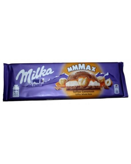 Шоколад Milka MAX Toffee Whole Nuts Ирис Фундук 300 г (7622300134532)