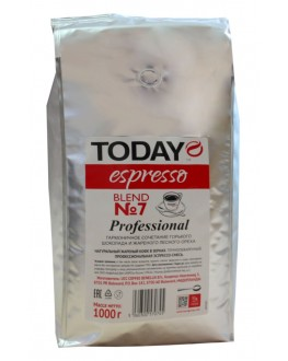 Кофе TODAY Espresso Blend № 7 Professional зерновой 1 кг (506030057045)