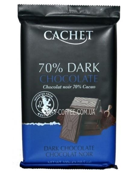 Шоколад Cachet Dark Chocolate Черный Шоколад 70% какао 300 г (5412956216452)