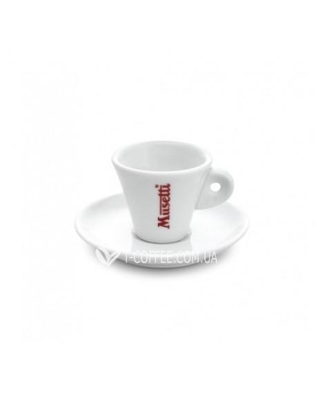 Чашка с блюдцем Musetti для эспрессо фарфоровая 60 мл