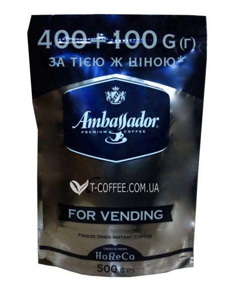 Кофе Ambassador Crema растворимый 400 г + 100 г эконом.пак. (8719325020588)