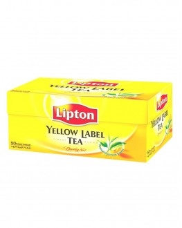 Чай LIPTON Yellow Label Чорний 50 x 2 г (4823084200021)