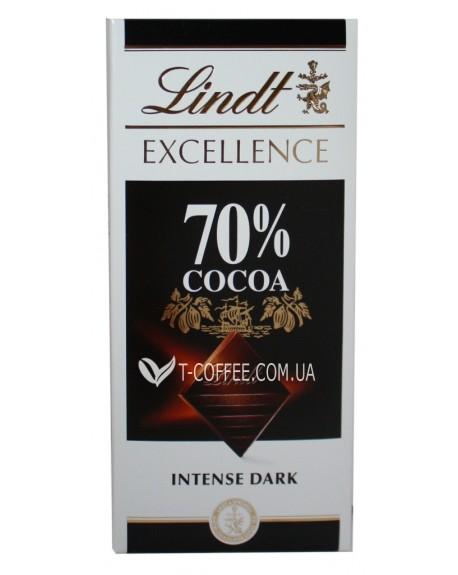 Шоколад Lindt Excellence Intense Dark Chocolate 70% Cocoa Черный Шоколад 70% какао 100 г (3046920028004)