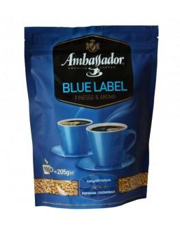 Кофе AMBASSADOR Blue Label растворимый 205 г эконом.пак. (8719325127508)