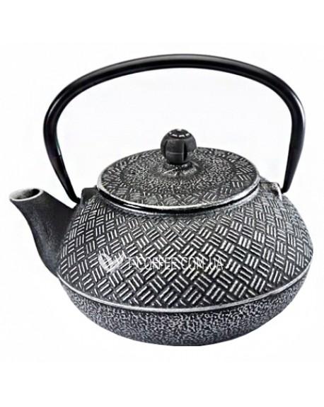 Чайник чугунный Мияко серебряный 800 мл
