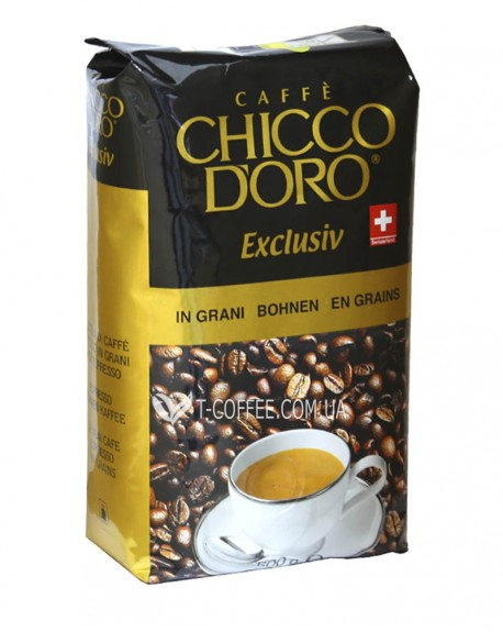 Кофе Chicco d'Oro Exclusiv зерновой 500 г (7610899110518)