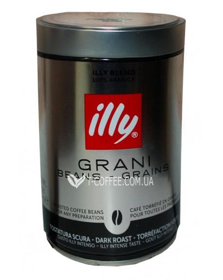 Кофе illy Espresso Caffe In Grani темной обжарки 250 г зерновой ж/б (8003753918198)