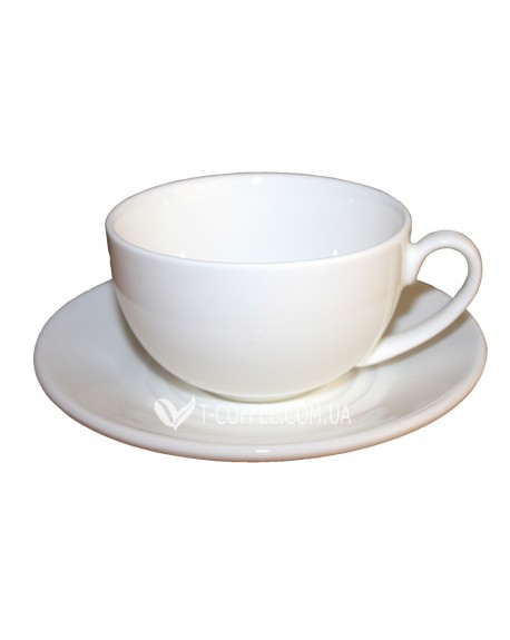 Чашка с блюдцем Wilmax фарфоровая 250 мл