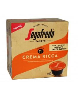 Кофе SEGAFREDO Dolce Gusto Crema Ricca в капсулах 10 х 7,5 г (8003410247920)