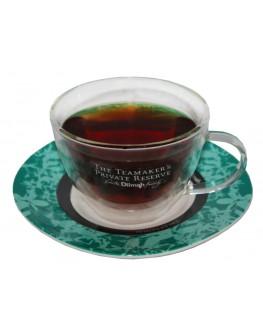 Чашка з блюдцем DILMAH Private Reserve скляна 200 мл