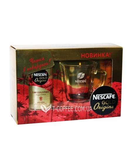 Набор кофе NESCAFE Gold Origins Cap Colombia растворимый 100 г стекл. б. с чашкой к/у (7613038830919)