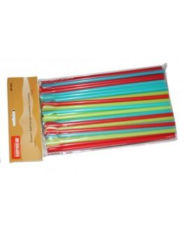 Трубочки для напоїв з лопаткою кольорові, 100 шт. (8903138902418)