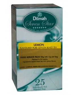 Чай DILMAH Seven Star Black Tea Lemon Лимон 25 x 2 г