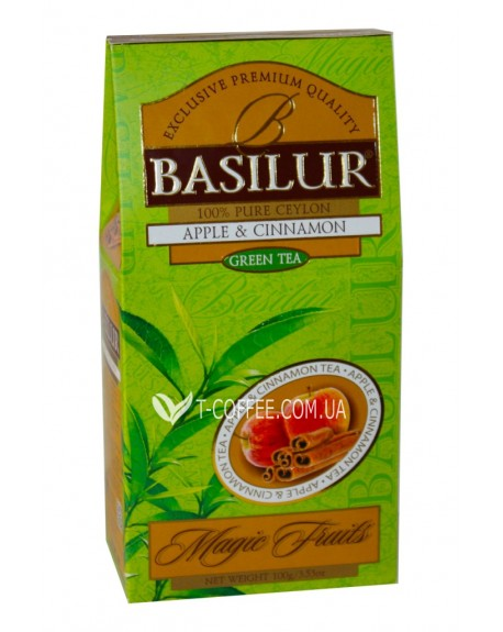 Чай BASILUR Apple Cinnamon Яблоко Корица - Волшебные Фрукты 100 г к/п (4792252933521)