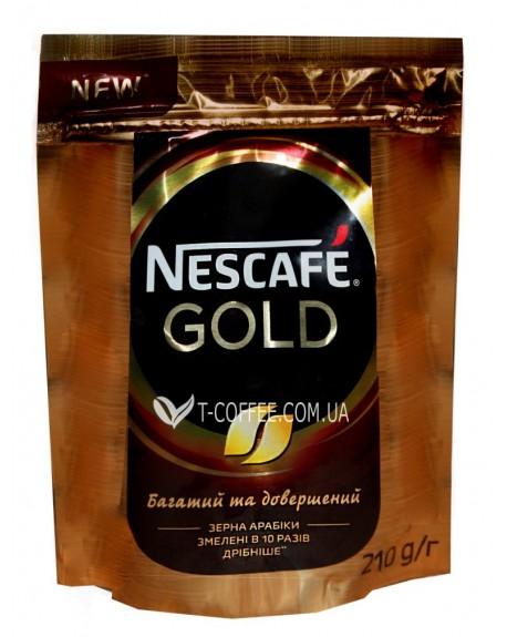 Кофе Nescafe Gold цельнозерновой растворимый 210 г эконом. пак. (7613035443600)