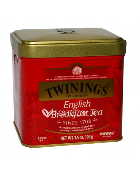 Чай TWININGS English Breakfast Английский Завтрак 100 г ж/б (070177029630)