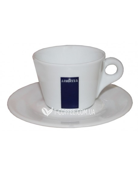 Чашка с блюдцем Lavazza для американо фарфоровая 150 мл