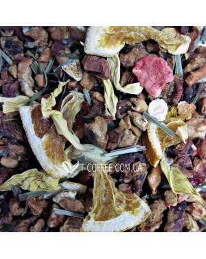 Клубника с Ароматом Лайма фруктовый чай Чайна Країна - Дольче Вита 100 г п/п