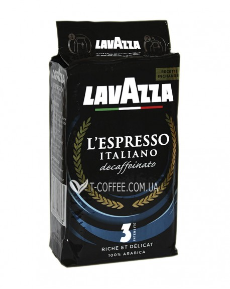 Кофе Lavazza L'Espresso Italiano Decaffeinato без кофеина молотый 250 г