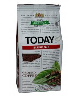 Кава TODAY Arabica Premium Blend № 8 мелена 200 г (5060300570455)