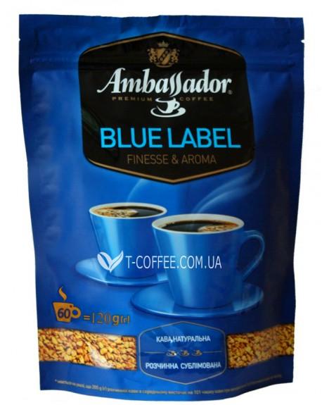 Кофе AMBASSADOR Blue Label растворимый 120 г эконом.пак. (8719325127485)