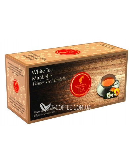 Чай Julius Meinl White Tea Mirabelle Мирабелла 25 x 1,75 г (9000403822927)