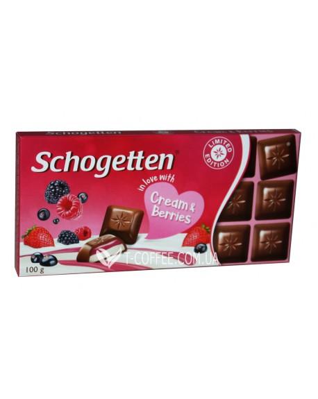 Шоколад Schogetten Cream Berries Крем Ягоды 100 г (4000415002206)