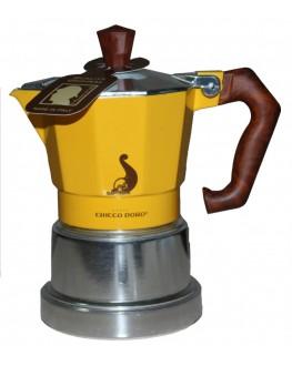 Кавоварка гейзерна CHICCO D`ORO 2 чашки жовта