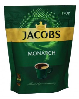 Кофе JACOBS Monarch растворимый 170 г эконом. пак. (4820187041735)