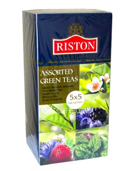 Чай Riston Assorted Green Teas - Ристон Ассорти Зеленого Чая 5x5 по 1,5 г